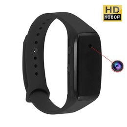 Wholesale Video Cam Watch - HD 1080P Smart Watch Rubber Bracelet Spy Hidden Camera Mini Video Recorder DVR Pinhole Cam New free Shipping