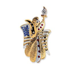 Wholesale Vintage Torch - 2017 New Fashion Vintage USA national flag Statue of liberty torch insignia Brooch for Men Women Patriot Day Jewelry Gold Silver Color