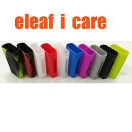 Wholesale E Cig Covers - Silicon Cases Colorful Rubber Sleeve Protective Cover Skin For Eleaf iCare Battery Kits Starter Kit Mod for e cig
