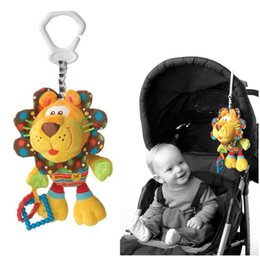 Wholesale Cute Lion Plush Doll - Wholesale- Cute Lion Activity Spiral baby bed pram hanging musical rattle toys baby stroller toy infant gifts plush doll
