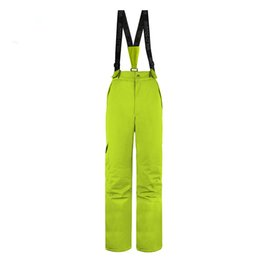 Wholesale Padded Snowboard Pants - Wholesale- Wild Snow Overalls For Women Winter Colorful Ski Pants Warm Snowboard Pants Skiing And Snowboarding Women Pant Padded Waterproof