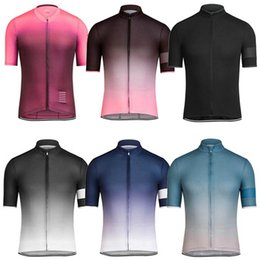 Wholesale Shirts Body Fitting - 6 Gradient Changed Colors RCC 2017 Cycling Tops Quick Dry MTB Millot Ciclismo Bike T-Shirt Size XS-4XL Body Fit Cycling Jerseys
