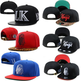 Wholesale Snap Backs Leopard - Last Kings Snapback Leopard Collection Snap Back Caps Adult Hats LK New Fashion Mens Women Fitted Baseball Hats Adjustable