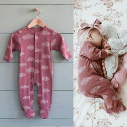 Wholesale Clothing Wholesalers America - Baby Raindrop Cloud Long Sleeves Jumpsuits together with Sock 2017 Fall Euro America Infant Toddlers Clothing Baby Boys Girls Onesie