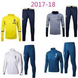 Wholesale Football Training Trousers - 2017 DYBALA MARCHISIO BONUCCI MANDZUKIC CHIELLINI training survetesuit trousers survetement sweater sportswear football training suit