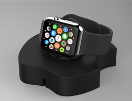 Wholesale Black Docking Station - for Apple Watch 2 Night Charging holder Station 2 in 1 Charger Stand Holder Docking Winder Table for Apple Watch holder