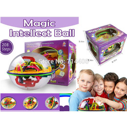 Wholesale Intellect Toys - Wholesale- 208 Steps educational toys Magic Intellect Ball Marble Puzzle Game perplexus magnetic balls,Children intelligence toys
