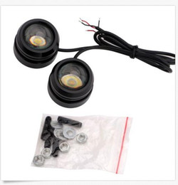 Wholesale Strobe Drl - 40*30mm 3W Car Strobe Flash LED Lights Eagle Eye LED Daytime Running Light DRL Fog Lights