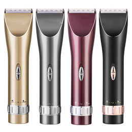 Wholesale Hair Trimmer China - High Quality Professional Barber Rechargable Electric Hair Clipper Heads Man Mini Trimmer Hair Shaver made in china