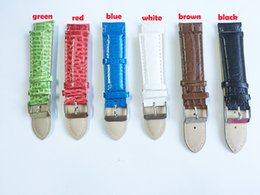 Wholesale Snakeskin Watch - Wholesale- Low prices multicolor PU watch strap 22mm light snakeskin pattern leather watchband fashion bracelet for hours ladies nato strap