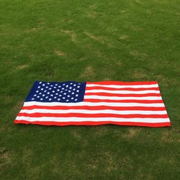 Микрофибра Прямоугольник Американский Флаг Пляжное Полотенце Флаг США 70 * 150 см Одеяло Быстро Сухое Банное Полотенце Большой Пляжный Чехол DOM106553 от Поставщики xl пляжные полотенца