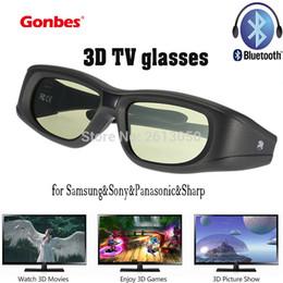 Wholesale Oculos Virtual - Wholesale- Gonbes 3D TV Glasses Bluetooth for Samsung&3D HDTV&Sony&Panasonic&Sharp Oculos gift Gafas Virtual Reality Goole 3D Smart Glass