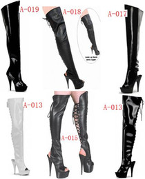 Wholesale Halloween Pole - sexy fish mouth 15 cm high heels with knee-high boots appeal conical with knee-high boots , pole dancing