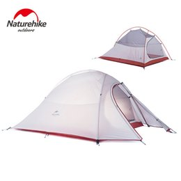 Wholesale construction aluminum - Wholesale- Naturehike Cloud UP2 2 Person Tent Waterproof 20D Silicone Fabric Double-layer Camping Tent Lightweight Only 1.24kg NH