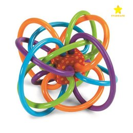 Wholesale Baby Winkel - 2017 Hot Sale Soft Tube Winkel Rattle and Sensory Teether Activity Baby Teething Toy 5Lx3.5Hx4W Inch