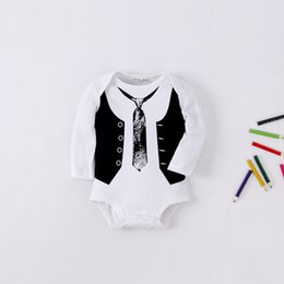 Wholesale Twins Clothing Boys - 2017 Infants And Young Children's Clothing Conjoined Twins Baby Clothes Clothes Suit Suits