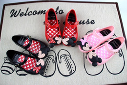 Wholesale Girls Sandal Shoes - Infant Melissa Minnie Mouse Sandal Shoes Baby Boys Girls Summer Cute Cartoon Beach Shoes Toddler Cow Muscle Soft Leather Infantil Sandalia