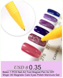 Wholesale Magic Magnetic Nails - Belen 1pcs Nail Art Tool Magnet Pen for DIY Magic 3D Magnetic Cats Eyes Polish Manicure Gel 3D Tips Painting Dotting Magnetic