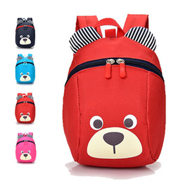 Wholesale Kindergarden Bags - Baby Bear Children Backpack For 1-3 Years Kindergarden Boys And Girls Bag Animal Cartoon Charactors Toddler Anti-lost Backpack