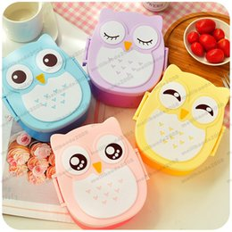 Wholesale Bento Box Gifts - NEW Cartoon Owl Lunch Box Food Fruit Storage Container Portable Bento Box children gifts free shipping MYY