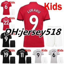 Wholesale Army Shirt Xxl - 2017 2018 kids POGBA soccer shirts Man Utd soccer jerseys 17 18 football shirt LINDELOF RASHFORD MKHITARYAN LUKAKU Children JERSEY united