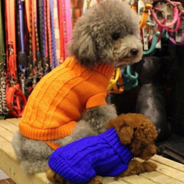 Wholesale Dog Jumper Sweaters - Dog Cat Sweater KNIT Jumper Hoody Pet Puppy Coat Jacket Winter Warm Clothes Apperal Pet Clothing