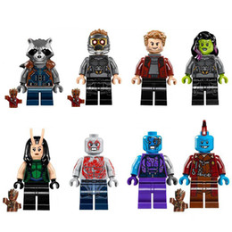 Wholesale Super Lord - Single Sale PC8044 POGO Minifigures Marvel DC Super Heroes Yondu Star-Lord Peter Jason Quill Rocket Racoon Characters Toys For Children