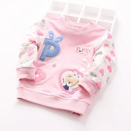 Wholesale Short Sleeve Hoodie Kids - Wholesale- 2016 New Fashion Children Hoodies Girls Sweatshirts and Pullover Long Sleeve Cotton Kids T-shirts Tops XQ023