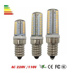 Wholesale E14 9w Candle - E14 LED Lamp Corn Bulb AC 220V AC110V 6W 7W 9W SMD 3014 64 72 104leds Lampada LED light 360 degrees Replace Halogen Lamp