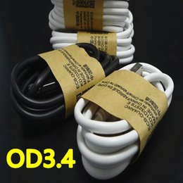 Wholesale Galaxy S4 Chargers - 1m 3FT OD 3.4 Micro V8 5pin usb data sync charger cable for Samsung galaxy s3 s4 s6 android phone