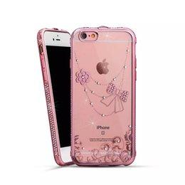 Wholesale Iphone Case Romantic - New Product JINYA Soft TPU With Rhinestone transparent Case Cover romantic case cover for iPhone 6 6s 6 6sPlus Free shipping