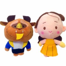 Wholesale Princess Baby Stuff - Beauty and The Beast Plush Stuffed Baby Toys for Children Cartoon Aciton Figure Plush Doll Gift 20cm Princess belle Aciton Figure
