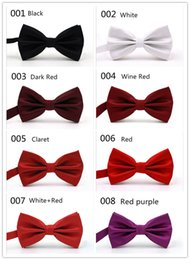Wholesale Price Wool - Factory price wholsale OEM 32Clors Men Classic Wedding Bowtie Necktie Novelty Tuxedo Fashion Adjustable boyfriend fater gift