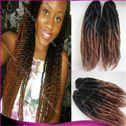 "Wholesale Cheap Twist Hair - Stock 20"" two tone black brown ombre synthetic hair kinky twist cheap price marley braiding hair free shipping"