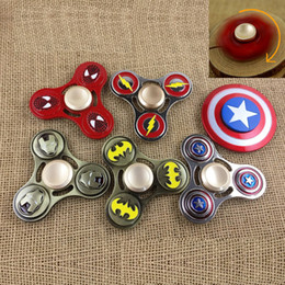 Wholesale Naruto Big - Cartoons Deadpool Naruto Spiderman Flash Ironman Avengers Metal Tri-Spinner Fidget Hand Spinner Toys For ADHD Decompression 0601539