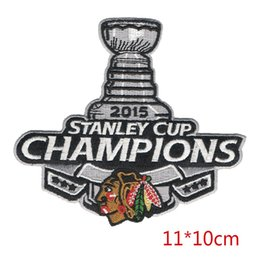 Wholesale Iron Cups - New arrival Champions Stanley cup embroidered iron on patch