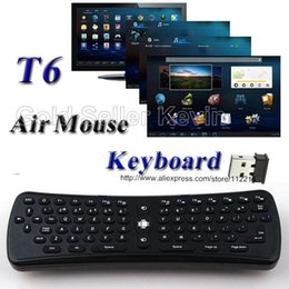 Wholesale Keyboard Mouse Universal Remote Control - T6 Mini Wireless Keyboard 2.4G Fly Air Mouse Universal Remote Control for Smart Android TV Box Tablet PC S905X S912 RK3229 Set Top Box