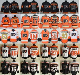 Wholesale Orange Ice Hockey Jerseys - Philadelphia Flyers Jerseys Ice Hockey 53 Shayne Gostisbehere 17 Wayne Simmonds 28 Claude Giroux 93 Jakub Voracek 88 Eric Lindros 27 Hextall