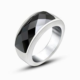 Wholesale Woman Ring Design Gemstone - Fashion Men Titanium Ring High Quality Black Titanium gemstone ring design mens For Men And Women