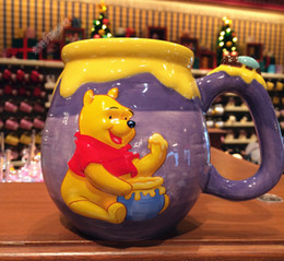 Wholesale Gift Winnie Pooh - Genuine Disneyland Winnie the Pooh Honey jar Mug for coffee milk 455ML Cartoon Bear ceramic cup gift for Student Children