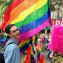 2019 ленточные баннеры Радуга флаг 3x5FT 90x150 см лесби гей гордость полиэстер флаг красочный баннер гордость мира ЛГБТ флаги Бесплатная доставка
