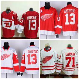 Detroit Red Wings # 13 Pavel Datsyuk 2016 estádio série Red Jersey barato Pavel Datsyuk inverno clássico equipe Hóquei no gelo Jerseys de