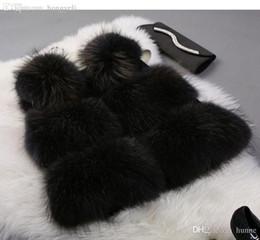 Wholesale Raccoon Fur Vest Women - Wholesale-Ladies Genuine Natural Raccoon Fur Vest for Women Real Fur Long Waistcoat Lady Gilet Blue Brown Black Real Fur Gilet Female Coat