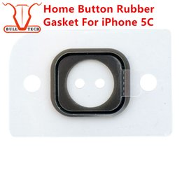 Wholesale Home Button Stickers Iphone 5c - Home Button Rubber Gasket For iPhone 5C Key Keypad Rubber Gasket Gadget Sticker Adhesive Holder Cap Pad Ring Spacer Replacement Parts