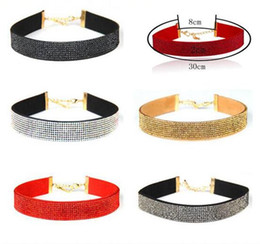 Wholesale Choker Collars Statement Necklace - Choker Statement Necklaces Jewelry European Flannelette Collar Neck Short Chain Clavicle Necklace Women Vintage Jewelry Choker Necklaces