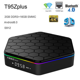 android tv box octa core 2gb Promo Codes - Android 7.1 Smart TV Box 2GB RAM 16GB eMMC Amlogic S912 Octa Core Multi-Media Player 4K 3D Movie Bluetooth 2.4G 5G Wifi T95Z Plus TVbox