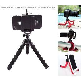 Iphone más trípode online-Nuevo Octopus Sponge Flexible MINI trípode soporte para cámara digital Clip de montaje para Canon Soporte de montaje para Iphone 7 6S 5 Plus Gorrila Trípodes