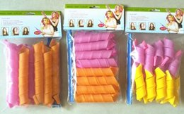 Wholesale Diy Hair Styling Tools - 4 style DIY Magic Hair Curler Leverag hair Rollers Magic Circle Hair Styling Rollers Curlers 20cm 30cm 45cm 55cm long Tools DIY