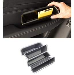 Wholesale Phone Box Sticker - Car Interior Front Rear Door Handle Storage Box Black Cell Phone Box For Mercedes Benz GLE 320 400 450 500