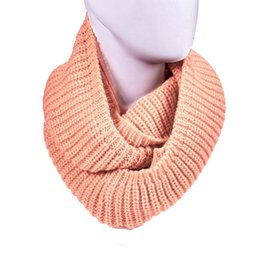 Wholesale Cable Knit Scarfs - Wholesale-Delicate Women's Winter Warm Infinity 2 Circle Cable Knit Cowl Neck Long Scarf Shawl nor5925
